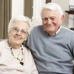 Portrait Of Happy Senior Couple At Home — Stock Photo