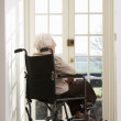 Disabled Senior Woman Sitting In Wheelchair — Stock Photo #11881371