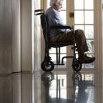 Disabled Senior Man Sitting In Wheelchair — Stock Photo