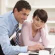 Couple Working From Home Using Laptop — Stock Photo #11881478