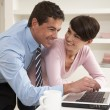 Couple Working From Home Using Laptop — Stock Photo #11881479