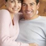 Portrait de couple jeune romantique — Photo