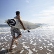 Stock Photo: Boys surfing