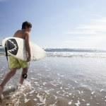 Boys surfing — Stock Photo