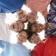 Teenagers in circle — Stockfoto