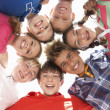 Teenagers in circle — Foto de Stock