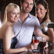 Stock Photo: Friends having a drink in bar