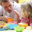 Man with children playing together — Stock Photo #11882107