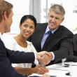 business-handshake — Stockfoto