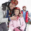 Young Family On Ski Vacation — Stock Photo #11882611