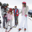 Young Family On Ski Vacation — Stock Photo #11882613