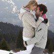Stockfoto: Young Couple On Winter Vacation