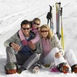 Young Family On Ski Vacation — Stock Photo