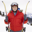 Pre-teen Boy On Ski Vacation — Foto de Stock
