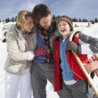 Young Family On Winter Vacation — Stockfoto #11882731
