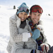 Young Couple On Winter Vacation — 图库照片