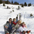 Young Family On Ski Vacation — Stock Photo #11882743