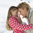 Young Mother And Daughter On Winter Vacation — Stock Photo