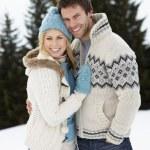 Young Couple In Alpine Snow Scene — Stock Photo #11882750