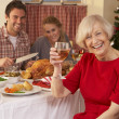 Family having Christmas dinner — Stock Photo #11882848