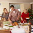 Royalty-Free Stock Photo: Family serving Christmas dinner