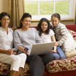 hispanic family shopping online — Stock Photo #11882890