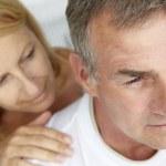 Woman comforting anxious husband — Stock Photo #11883137