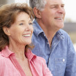 Stock Photo: Portrait senior couple outdoors