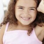 Portrait little girl outdoors — Stock Photo