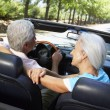Senior couple in sports car — Stock Photo #11883320