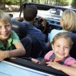 Stock Photo: Family in sports car
