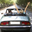 Couple in sports car - Lizenzfreies Foto