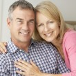 Mid age couple at home — Stock Photo #11883394