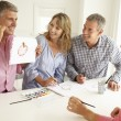 Stock Photo: Mid age couples painting with watercolors