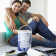 Couple decorating house — Stock Photo #11883528
