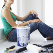 Woman decorating house — Stock Photo #11883532