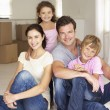 Stock Photo: Family in new home
