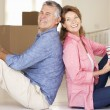 Stock Photo: Senior couple in new home