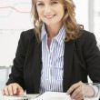 Mid age businesswoman at work — Stock Photo