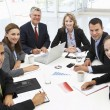 Mixed group in business meeting — Foto Stock