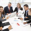 Mixed group in business meeting — Stock Photo #11883722