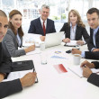 Mixed group in business meeting — Stock Photo #11883723