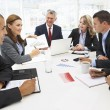 gemischte Gruppe im Business-meeting — Stockfoto #11883725