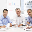 Colleagues in business meeting - Foto Stock
