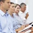 Group watching business presentation — Stock Photo