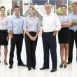 Mixed group of business — Stock Photo