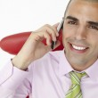 Young businessman using cellphone — Stock Photo