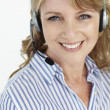 Businesswoman wearing headset — Stock Photo #11884038