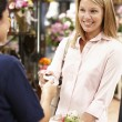 Woman shopping in florist — Foto Stock #11884143