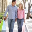 Couple carrying shopping — Stock Photo #11884215